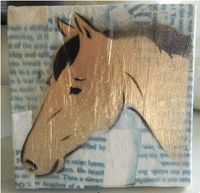 Gold horse painting