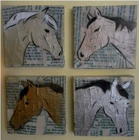 Four horse paintings together