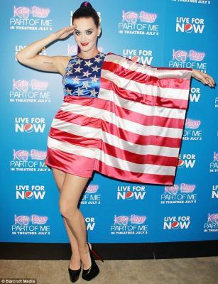 Katy Perry Patriotic Dress