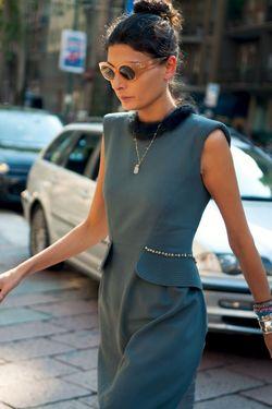 Giovanna-battaglia-dress-gucci-show-streetstyle
