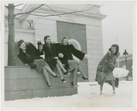 Ladies in the snow