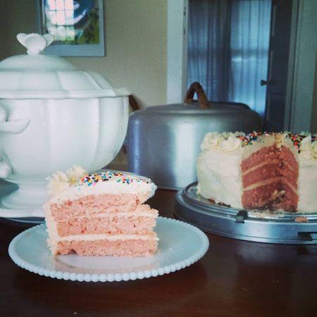 Pink cake 1