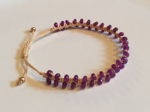 Satori-rue-beaded-friendship-bracelet-purple-on-cream-2