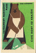 Bear matchbook