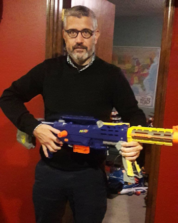 Greg and the nerf gun