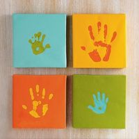 Baby room-wall-picture frame-kids info_hand prints-paint