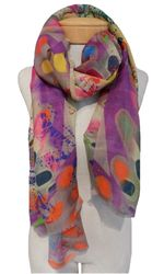 Banaris-merino-silk-stole-abstract-butterfly-multi-2