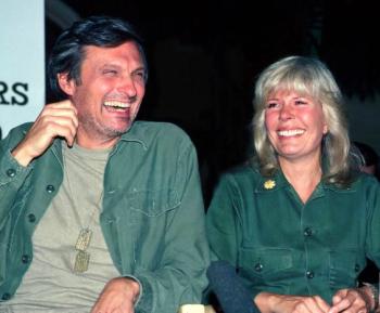 Alan alda laughing
