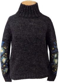 PTcharcoalfloralsweater
