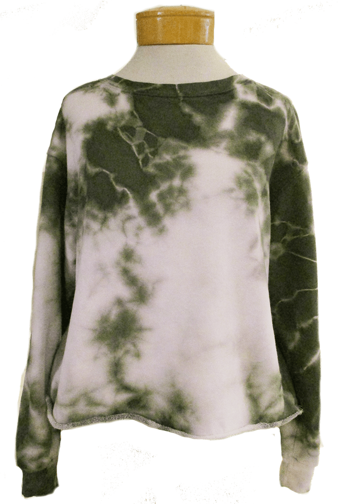 Fabina-raw-edge-tie-dye-french-terry-crop-sweatshirt-olive-6
